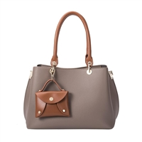 Melie Bianco Bridget Vegan Leather Convertible Satchel Bag