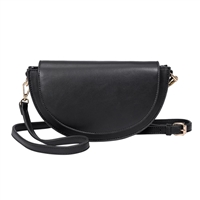 Melie Bianco Shelby Half Moon Vegan Leather Convertible Crossbody Bag