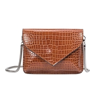 Melie Bianco Anna Croco Embossed Convertible Clutch Bag
