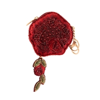 Mary Frances Disney Enchanted Rose Beaded Coin Purse FOB