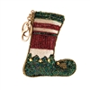 Mary Frances Holiday Elfie Elf Stocking Beaded Zip Coin Purse /FOB