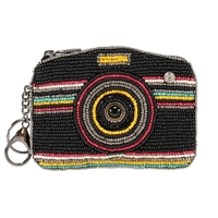 Mary Frances Hyper Focused Camera Zip Coin Purse /FOB