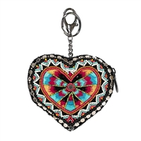 Mary Frances Love Your Tribe Heart Card Case Coin Purs