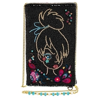 Mary Frances Disney Tink Tinker Bell Beaded Phone Crossbody