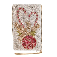 Mary Frances Sweet Wishes Holdiay Beaded Phone Crossbody