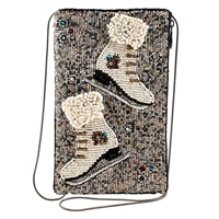 Mary Frances Cheap Skate Ice Skate Beaded Phone Crossbody