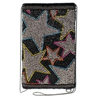 Mary Frances Seeing Stars Beaded Phone Crossbody