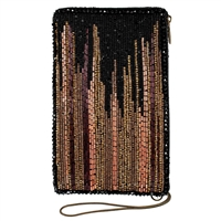 Mary Frances Abstract City Skyline Beaded Phone Crossbody