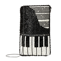 Mary Frances Well Played Piano Beaded Phone Crossbody