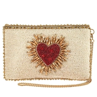Mary Frances Heart Burst Beaded Phone Crossbody