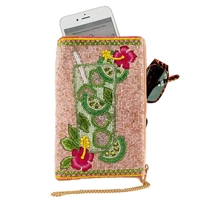Mary Frances Mojito Cocktail Beaded Phone Crossbody