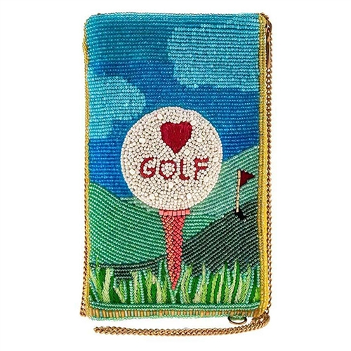 Mary Frances Golf Lover Beaded Phone Crossbody