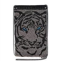 Mary Frances Eye of the Tiger Beaded Phone Crossbody