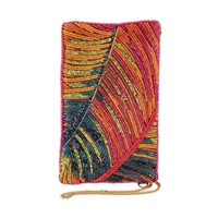 Mary Frances Hot Tropics Palm Beaded Phone Crossbody