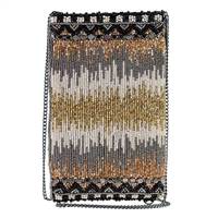 Mary Frances Abstract High Wire Beaded Phone Crossbody