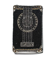 Mary Frances Strum Along Guitar Beaded Phone Crossbody