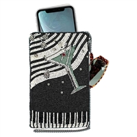 Mary Frances Piano Bar Beaded Phone Crossbody