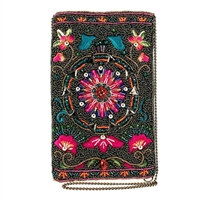 Mary Frances Valley of the Flower Beaded Phone Crossbody