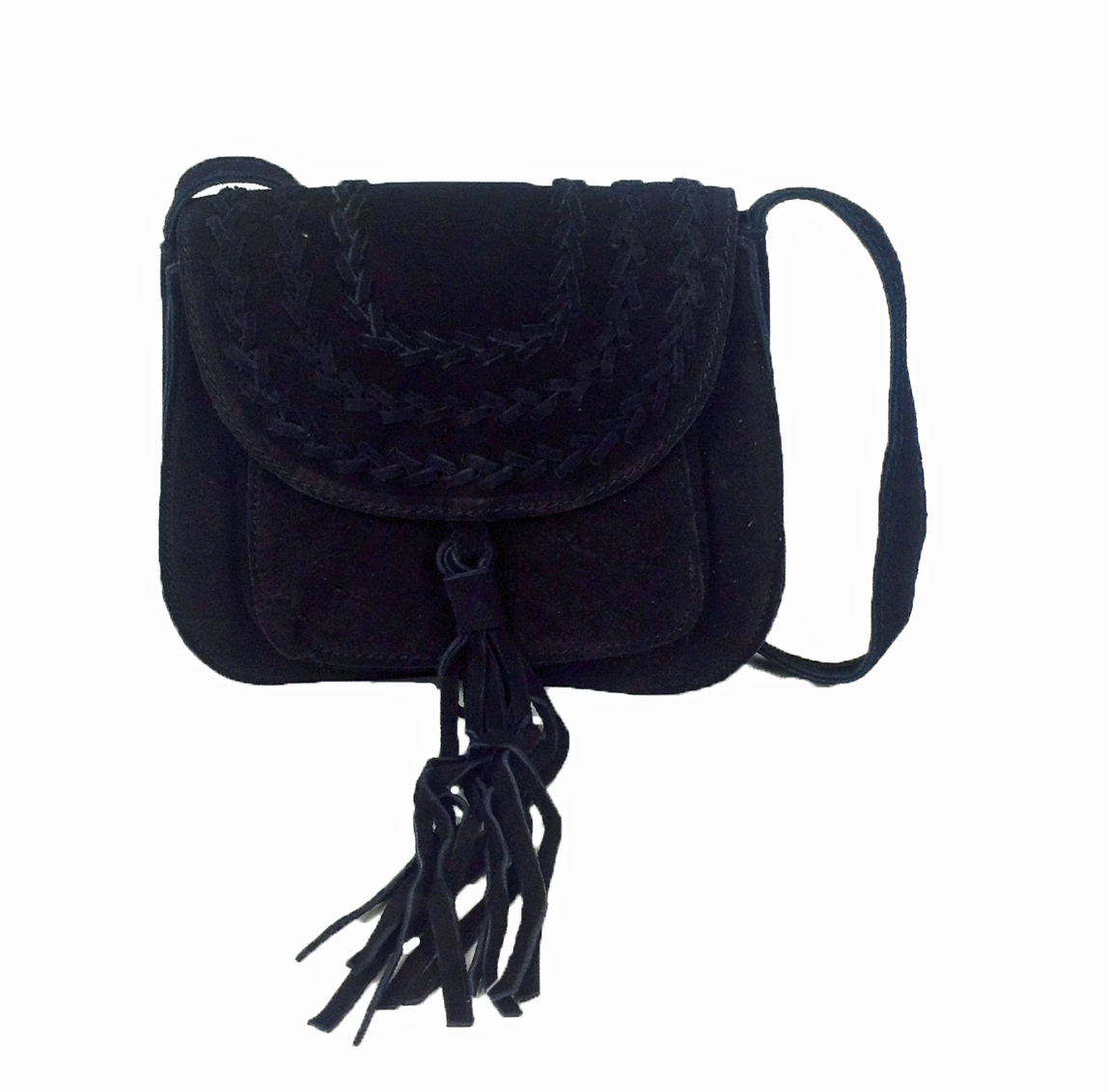 6a109add05 Culture Riot Isabella Suede Fringe Tassel Small Crossbody Bag, Black