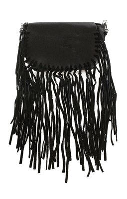 Culture Riot 'Jelly' Leather Fringe Crossbody Bag