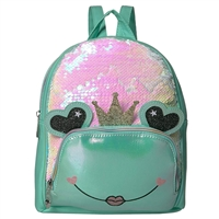OMG! Accessories Frog Queen Sequin Mini Backpack