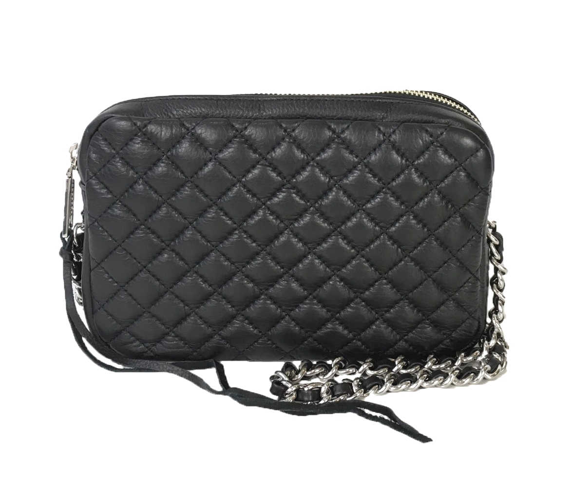 Rebecca Minkoff Flirty Quilted Leather Crossbody Bag Black