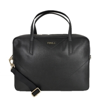 Furla Calypso Leather Convertible Satchel Bag