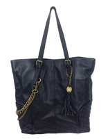 Crown Vintage Leather Chain Tote
