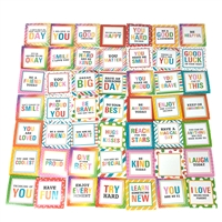 Dream Big Rainbow Inspiring Lunchbox Mini Notes for Kids with Back Fill in Message 50 Count