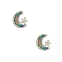 Zad Jewelry Moon & Star Mood Stud Earrings
