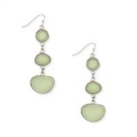 Zad Jewelry Mint Druzy Triple Drop Earrings