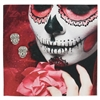 Zad Jewelry Calavera Sugar Skull Stud Earrings