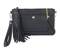 Melie Bianco Sawyer Vegan Leather Tassel Wristlet Crossbody