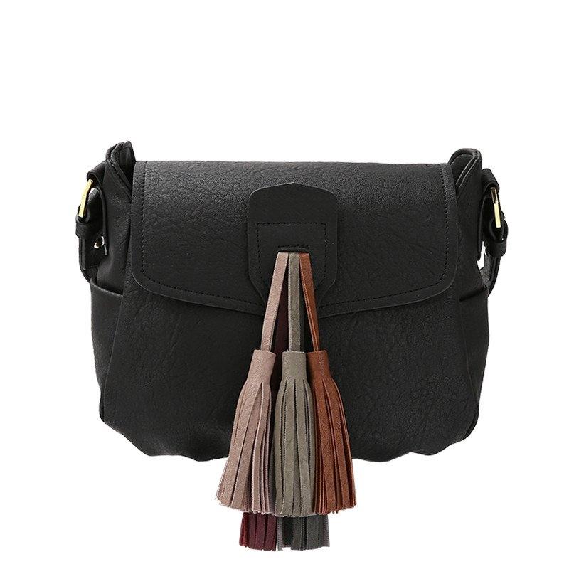 Melie Bianco Tennessee Vegan Leather Tassel Crossbody 0eb8f6e3cb0c8