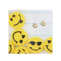 Zad Jewelry Happy Face Smile Emoji Stud Earrings