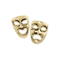 Set the Stage Broadway Theater Comedy & Tragedy Stud Earrings