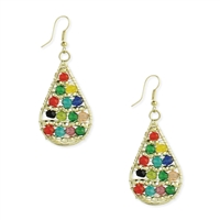 Liv Colorful Beaded Teardrop Earrings