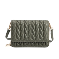 Melie Bianco Giselle Quilted Vegan Leather Convertible Clutch Crossbody Bag
