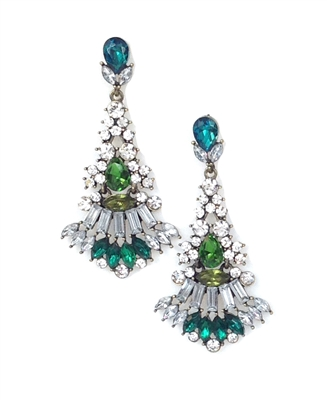 Cara Fan Chandelier Earrings
