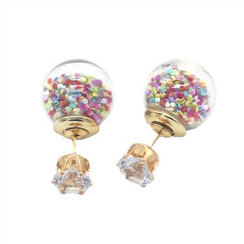 Jewelry Collection 'Confetti' Double Stud Earrings