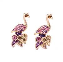 Flamingo Paradise Pave Stud Earrings