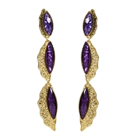 Amrita Singh Camella Shells Long Linear Drop Earrings