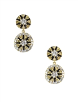 Amrita Singh Double Disk Drop Earrings