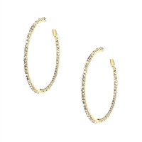 Amrita Singh Farrah Pave Large Hoop Earrings