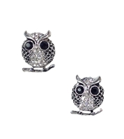Amrita Singh Pave Owl Earrings