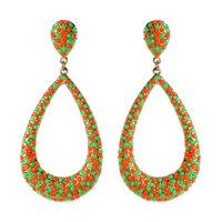 Amrita Singh Seed Bead Oval Hoop Dangle Earrings