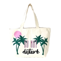 Paradise Do Not Disturb Canvas Tote Beach Bag