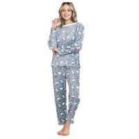 Unicorn Dreams Fleece Pajama Pants Long Sleeve Top 2 PC Set