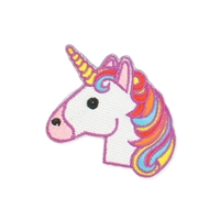 Zad Rainbow Unicorn Embroidered Iron On Patch