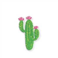 Zad Cactus Embroidered Iron On Patch